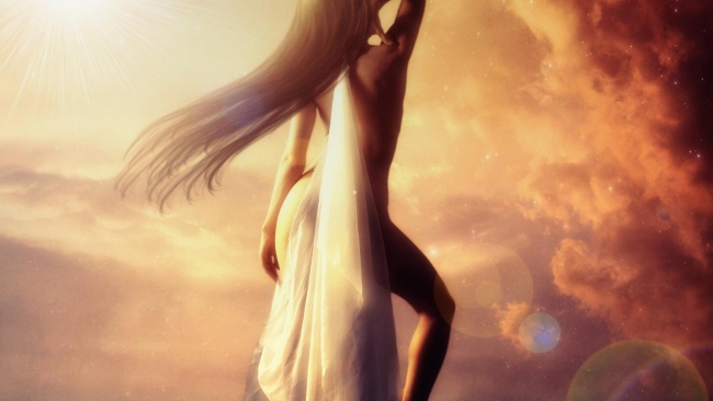 SUNSETS AND TIDAL WAVES--girl-goddess-aphrodite-650x366